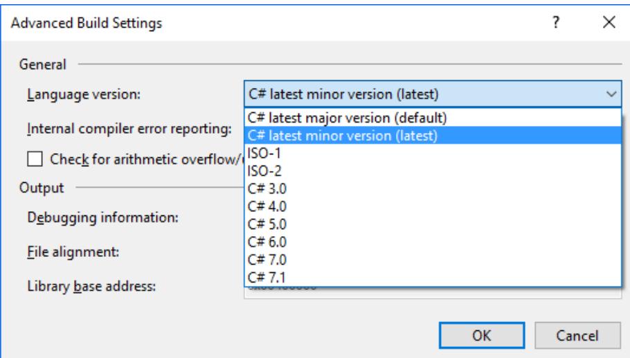 Visual Studio Impostazione per C#
